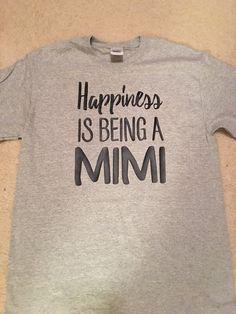 ed0ca5507f Happiness is being a grammy shirt - Grandma shirt - Grammy - Nana shirt -  Mimi