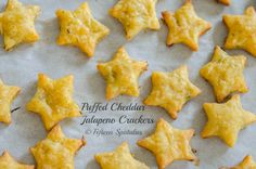 Do you love Cheez-Its? Then youll love these Puffed Cheddar Jalapeno Crackers...theyre puffy, buttery, cheesy, crispy, and spicy!