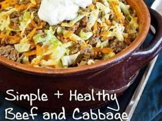 Simple and Healthy Beef and Cabbage Stir Fry Recipe delicious and inexpensive 365x274 Beef and Cabbage Stir Fry