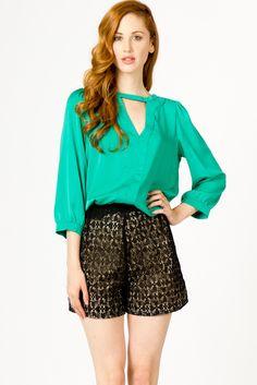 lace high waist shorts  $39