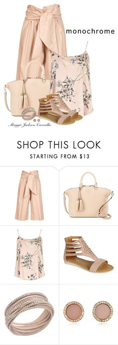 """""""Color Me Pretty: Head-to-Toe Pink"""" by maggie-jackson-carvalho ❤ liked on Polyvore featuring MSGM, Tory Burch, Dorothy Perkins, Swarovski and Michael Kors"""