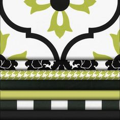 Logan Black and Lime Fabric  Collection - Babybedding.com | Carousel Designs 500x500 image