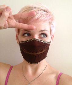 Camouflage zipper gag mask for Burning Man, Made by Julianne, $26.00 #burningman #madebyjulianne #zippermask #camouflage