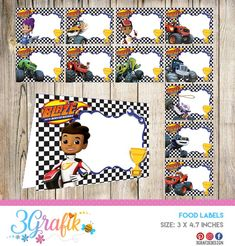 24 Blaze and The Monster Machines Food Tent Cards instant Blaze And The Monster Machines Party, Blaze The Monster Machine, Kids Birthday Themes, Third Birthday, Birthday Parties, Race Party, Monster Truck Birthday, Food Tent, Tent Cards