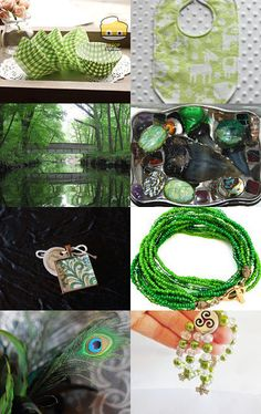 --Pinned with TreasuryPin.com Gorgeous Greens Spring Time, Envy, Retro Vintage, Upcycle, My Etsy Shop, Handmade Jewelry, Green, Upcycling, Handmade Jewellery