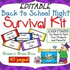 This comprehensive package contains EVERYTHING you need to welcome your new students and parents on Back to School Night while staying organized!  ...