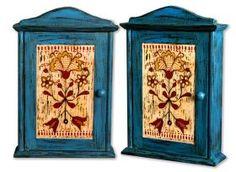 Meble i drzwi :: Skrzynki na klucze :: Kaszubianka Ręcznie malowana skrzynka na klucze