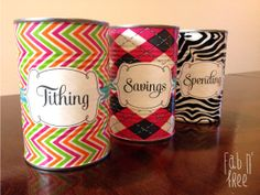 Tithing, Savings, Spending Jars… Free printable labels and patterned duct tape :) Activity Day Girls, Activity Days, Printable Labels, Free Printables, Fun Crafts, Crafts For Kids, Savings Jar, Duck Tape Crafts, Primary Activities