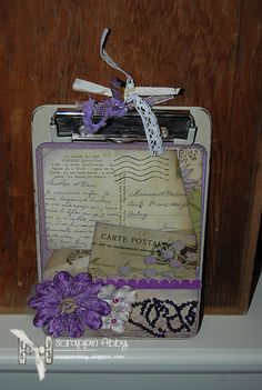 Altered Clipboard.  I think these would make cute teacher gifts. forget the apple stuff!