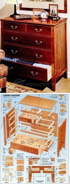 Cherry Dresser Plans - Furniture Plans and Projects | WoodArchivist.com