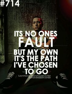 Some of the best Eminem Quotes ever written or spoken. Everyone knows at least one of our Eminem Quotes. Eminem Lyrics, Eminem Rap, Eminem Quotes, Rapper Quotes, Song Quotes, New Quotes, Quotes To Live By, Funny Quotes, Life Quotes