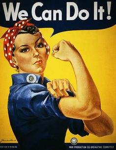 0cb76e71 We Can Do It! WW2 poster encouraging American women to show their strength  and go