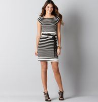 jersey-knit striped dress - LOFT