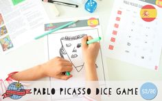 Pablo Picasso Dice Game | Spain | Around the World in 80 Days | Moomookachoo