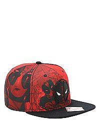 HOTTOPIC.COM - Marvel Deadpool Red Tonal Snapback Hat