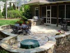 unique patios and back yards pictures | Great Outdoors: Furnish your backyard with Stone patios