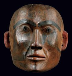 Masque Tsimshian, Côte Nord-Ouest de l'Amérique du Nord, Canada