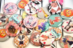 20 Cute Origami Animals Pin Back Badges 1 Pinbacks by PointyPins