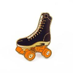 Vintage Rollerskate Pin Available at www.valleycruisepress.com