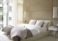 #bedroom #upholsteredwalls | upholster your walls for extra depth and dimension | @meccinteriors | design bites