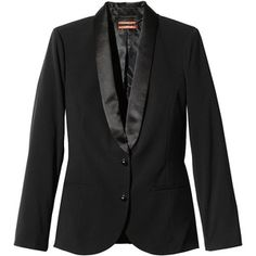 satin shawl collar, classic blazer!
