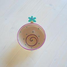 polka dot tea cup