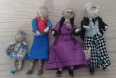 Four vintage Grecon dolls house dolls by wilsonscollectables