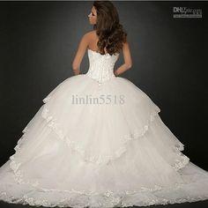 huge ball gown wedding dress | ... Big Skirt Bride Ball Gown Wedding Dresses 2013 Buy Dress Get Gloves