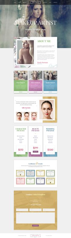 Makeup Artist - Premium PSD Template #web design #styling #makeup artist • Download ➝ https://themeforest.net/item/makeup-artist-premium-psd-template/18641083?ref=pxcr