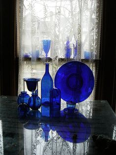 Cobalt Blue Glass by bettybarcode, via Flickr