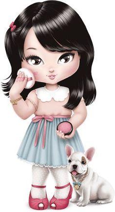 Girl Cartoon, Cute Cartoon, Cartoon Art, Cute Images, Cute Pictures, Adorable Petite Fille, Bratz Doll, Cute Little Girls, Cute Dolls