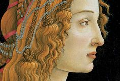 Idealized Portrait of a Lady, or Portrait of Simonetta Vespucci as Nymph (detail), by Sandro Botticelli, ca.1475