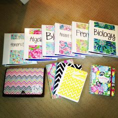 Lilly and Chevron school supplies