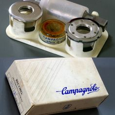 Campagnolo Corsa Record bottom bracket from early 1990s for road, french thread. #bottombracket #campagnolo #campag #campagnolosrl #campagnolocrecord #crecord #vintagecycling #vintagebicycle #retrocycling #bicyclecomponents #bicyclecomponent #bicyclemechanic #componentdesign #retrocycling #cyclepassion #hookedoncycling #bicyclemechanics #lovecycling