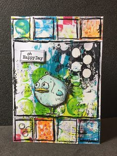 "CARTE ""OH HAPPY DAY"" par Stefnico.                                                                                                                                                                                 Plus"