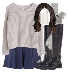 """""""Allison Inspired Outfit with Requested Boots"""" by veterization ❤ liked on Polyvore featuring Vince Camuto, Old Navy, MTWTFSS Weekday and Ilia"""