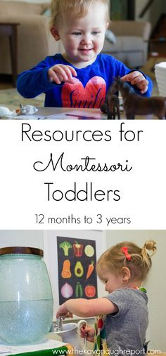 Montessori toddler resources listed by topic and age. These resources can help you incorporate Montessori ideas with your toddler.