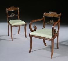 Gillows: A Set of Six Mahogany Dining Chairs