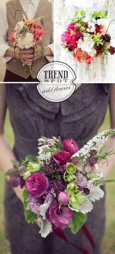 wildflower bouquet trend