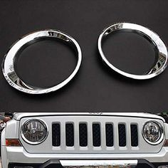 Jeep Patriot, Car Parts And Accessories, 2016 Jeep, Lamp Cover, Head Light, Light Covers, Lamp Light, Chrome, Abs