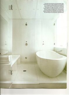 Waterworks tub; architect/designer Daniel Romualdez - I don't like the step tho - it's totally unnecessary!