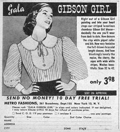 Image result for free gibson girl blouse pattern
