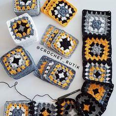 Hand Knitting Women's Sweaters Crochet Motifs, Crochet Quilt, Crochet Blocks, Granny Square Crochet Pattern, Afghan Crochet Patterns, Crochet Squares, Crochet Stitches, Knitting Patterns, Granny Squares
