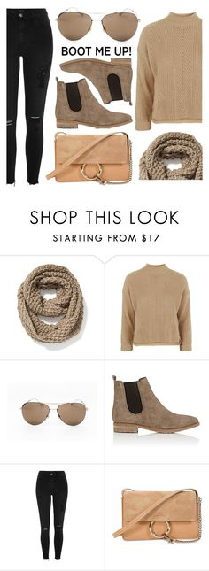"""Everyday Look"" by smartbuyglasses ❤ liked on Polyvore featuring Old Navy, Topshop, Gucci, Barneys New York, River Island, Chloé, casual, brown, beige and chelseaboots"
