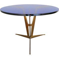 Italian Mid Century Circular Brass Table @shoprubylux #CircaBatterseaLTD