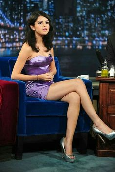 020e3c2177ab7b Selena Gomez. Being interviewed on Late Night With Jimmy Fallon in New York  City.