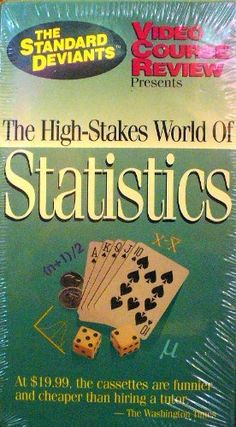 The High-Stakes World of Statistics (The Standard Deviants) VHS ~ Video Course Review, http://www.amazon.com/dp/1886156034/ref=cm_sw_r_pi_dp_EtHGsb09GGEHR