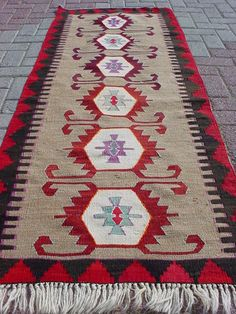 "Anatolian Turkish Antalya Kilim Rug Carpet 28 7"" x 77 9"" 