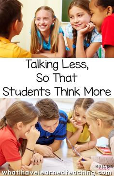 Have you ever observed a teacher teaching a group of students and and noticed how much the teacher talked vs the students. As a teacher, I have often had to stop myself from talking too much and instead work in deliberate ways to get students to talk more in my classroom. Learn to empowering students to become independent thinkers by talking less.