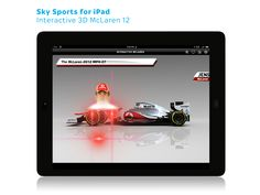 Sky Sports for iPad: Interactive McLaren 12 Driver Walk up animation